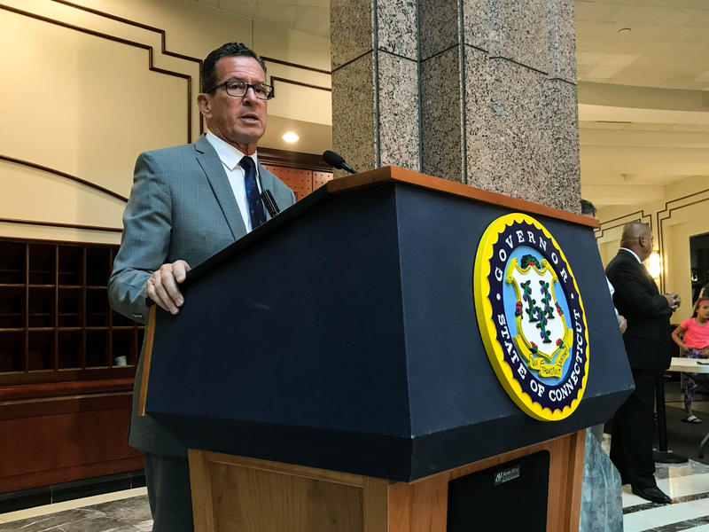 """""""We're giving them the information they may not want, but everyone needs to hear,"""" said Governor Dannel Malloy on July 25 at the state legislative office building in Hartford."""