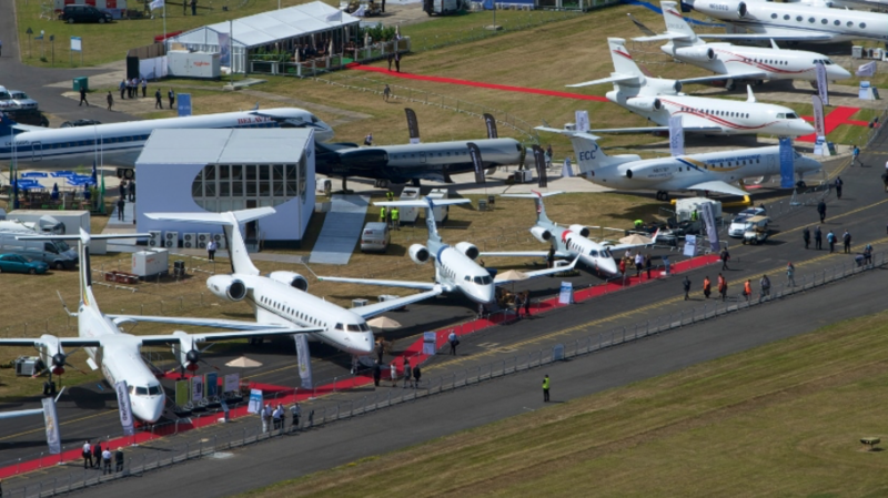 The Airshow is held every two years in Farnborough, England, alternating with Paris