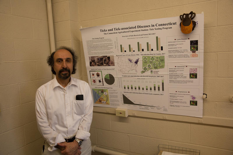 "Goudarz Molaei directs the tick-testing program for the Connecticut Agricultural Experiment Station. ""We are in the midst of, unfortunately, a public health crisis,"" he said."