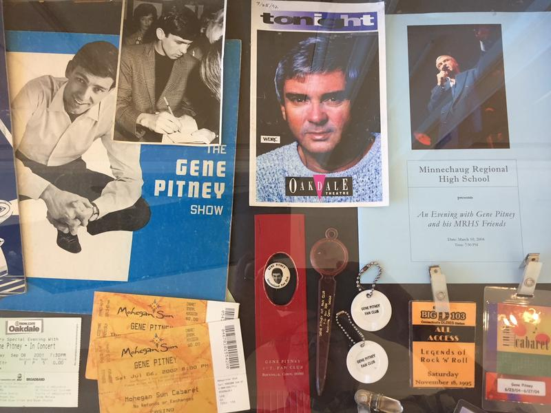 Treasures from Gene Pitney's personal archives are now on display an exhibit at Arts Center East in the Rockville section of Vernon.