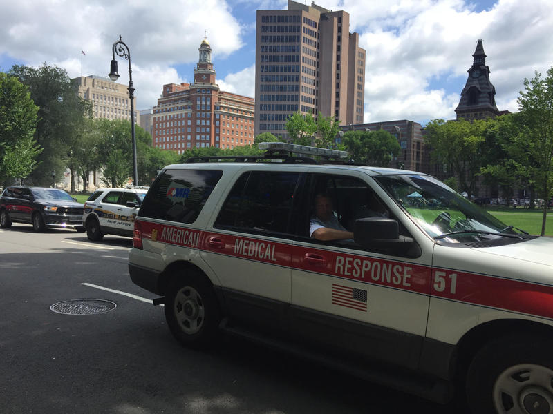 Emergency vehicles respond to Wednesday's overdoses in New Haven