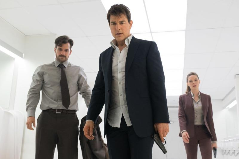 Henry Cavill, Tom Cruise, and Rebecca Ferguson in 'Mission: Impossible -- Fallout.'
