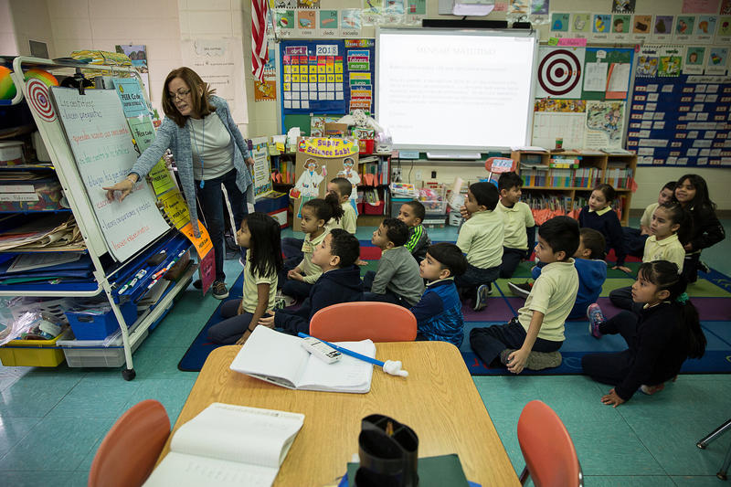 At least 1,800 displaced students enrolled in Connecticut's public schools, including about 40 new schoolchildren at the Maria Sanchez School in Hartford.