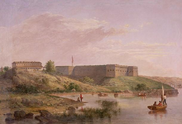 New London's Fort Trumbull, as constructed in the mid-19th century.