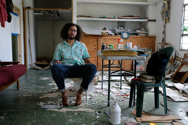Tomas Gonzalez in his art studio
