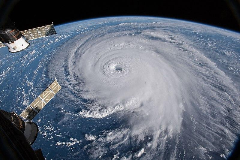 Hurricane Florence as seen from the International Space Station