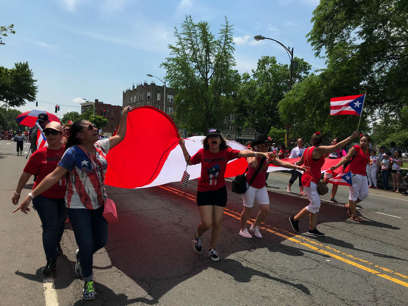 Many demonstrations of support for Puerto Ricans, like this parade on June 2, 2018, have taken place in Hartford since Hurricane Maria made landfall on the island on September 20, 2017.