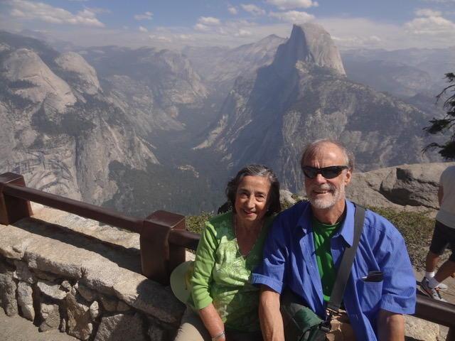 Adriana Falcón Trafford and her husband, Rob, at Yosemite National Park in 2014