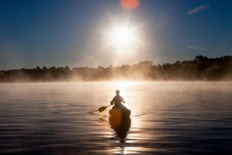 Author Porter Fox in the Boundary Waters. Photo by Sara Fox
