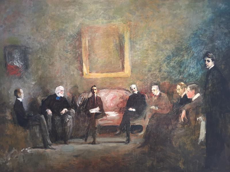 """James Britton's 1921 painting """"Council of Artists"""""""