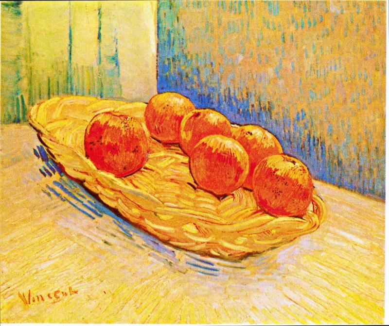 """Basket with Six Oranges by Vincent Van Gogh"