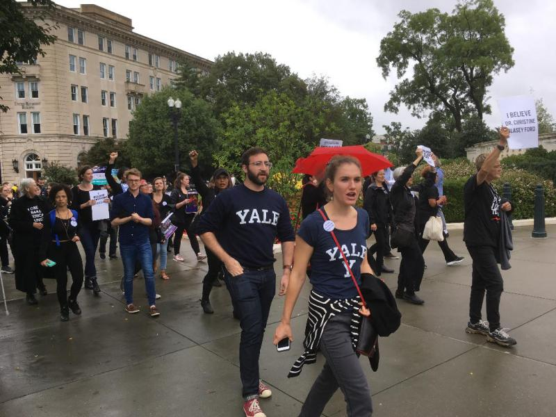 Students from Yale Law School protest in Washington D.C. Monday