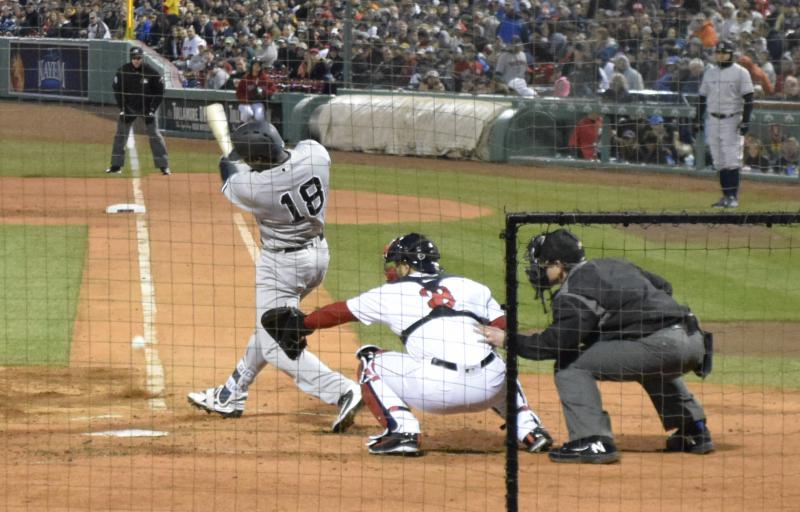 New York Yankees vs. Boston Red Sox, April 12, 2018