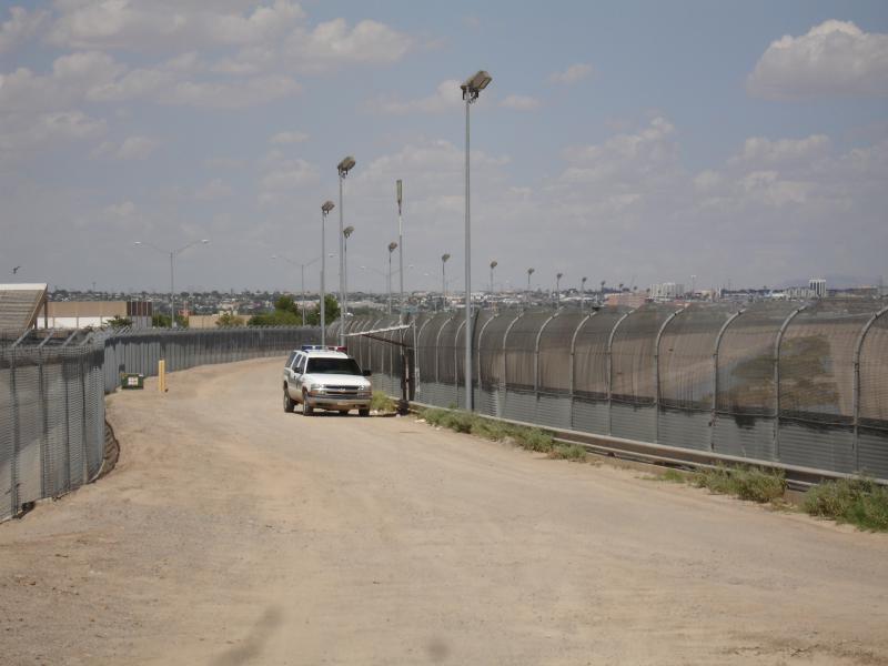 The U.S.-Mexico border fence near El Paso, Texas.
