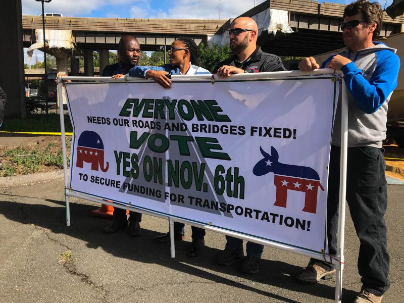 Leaders of various Connecticut unions showed up in Hartford Friday October 12 to get the word out about the lockbox ballot question.