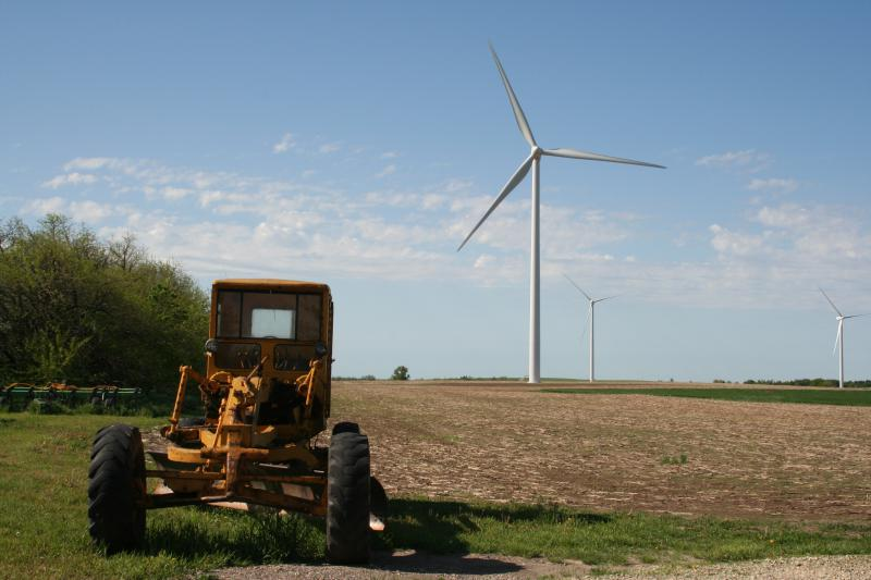 The Kocher Family Ranch on the Meridian Way Wind Farm in Cloud County, Kansas.