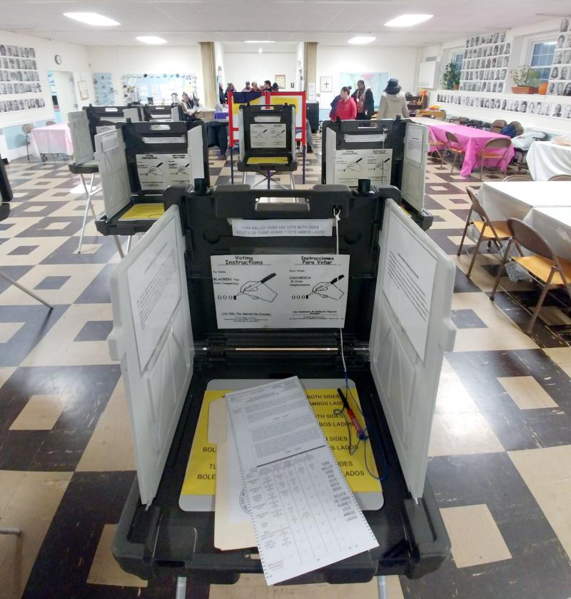 Voting at Woodland Street in Hartford, CT.