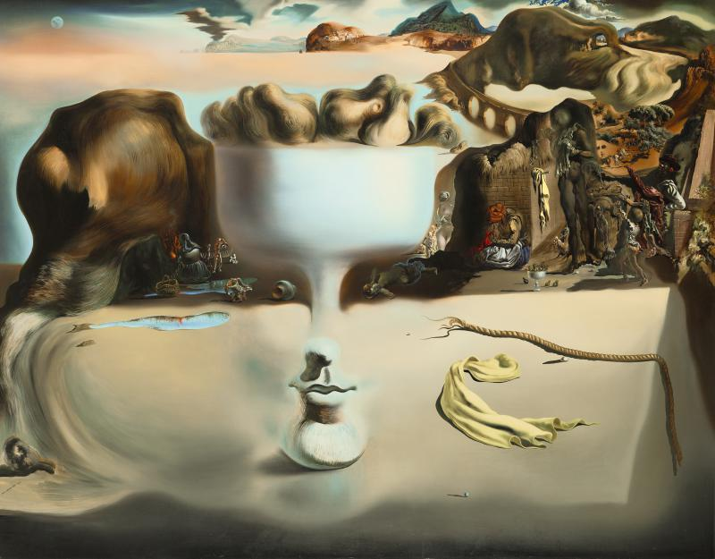 "Salvador Dalí (Spanish, 1904-1989), ""Apparition of Face and Fruit Dish on a Beach,"" 1938. Oil on canvas, 45 x 56 5/8 in."