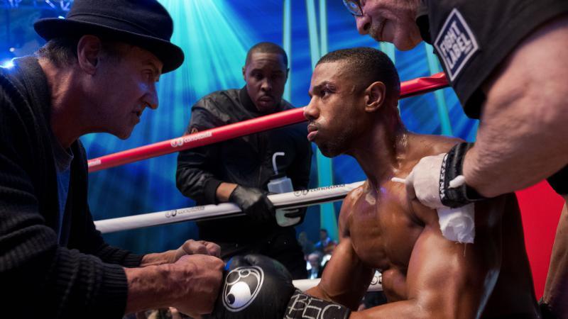 Sylvester Stallone, Wood Harris, Michael B. Jordan, and Jacob 'Stitch' Duran in Steven Caple Jr.'s 'Creed II.'