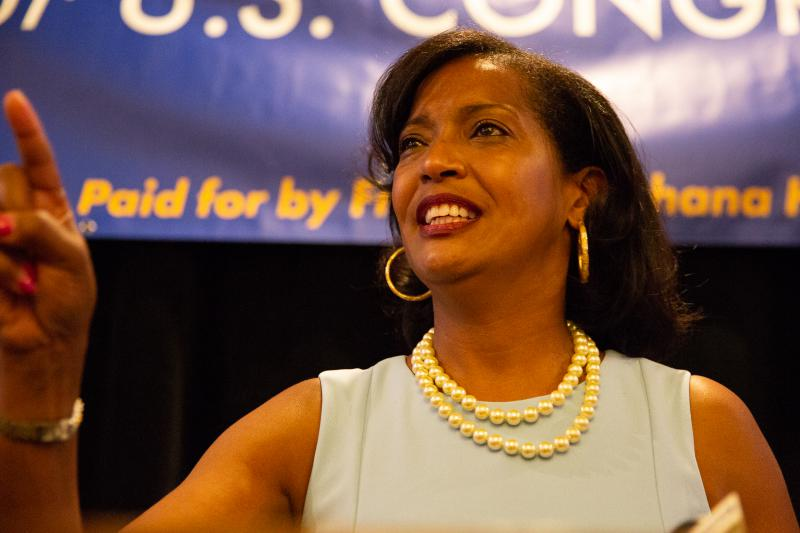 Democrat Jahana Hayes won the primary for the 5th Congressional District race. Hayes faces Republican Manny Santos on Nov. 6.