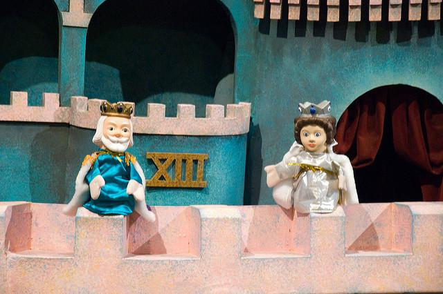 King Friday XIII and Queen Sarah Saturday from Mister Rogers' Neighborhood.