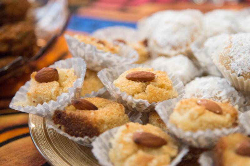 Basboussa, a traditional Arabic dessert.