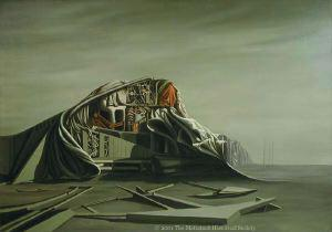 "Kay Sage, ""The Instant,"" 1949. Oil on canvas."