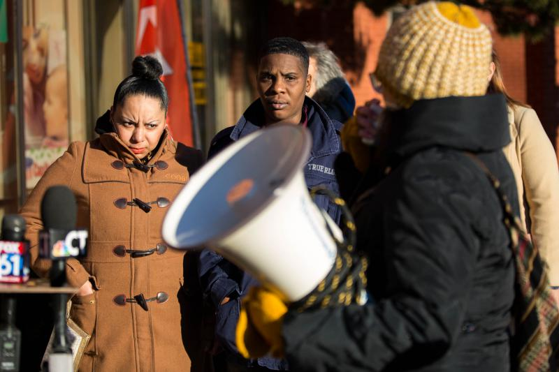 Walton was supported at a December 4 rally in Hartford by her wife, Tameka Ferguson. The couple is hoping Immigration and Customs Enforcement officials grant Walton a stay of deportation before she is scheduled to leave for England.