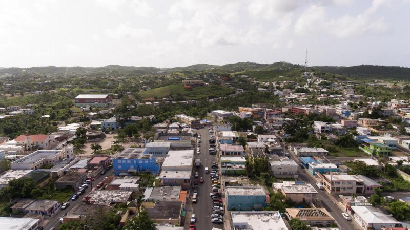 The town of Isabel Segunda on the island of Vieques, photographed in July 2018.