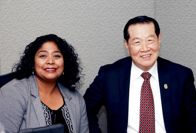 Dr. Henry C. Lee with Lucy Nalpathanchil