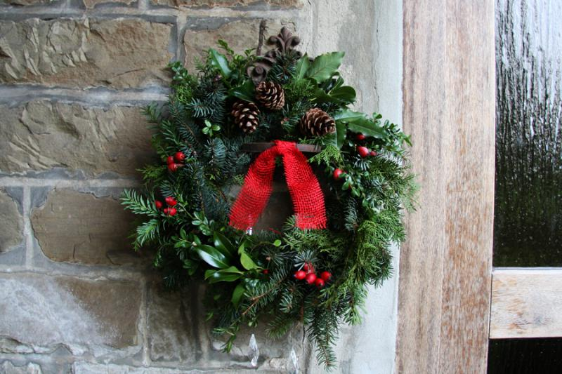 Evergreen wreaths are popular, but you don't have to limit yourself to this traditional look.