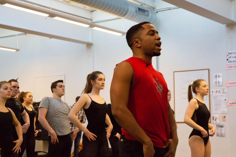 "Tre Frazier taught a Hamilton ""master class"" to students at his old school on December 11. The Bloomfield native has been rehearsing with the cast of Hamilton and said he'll soon debut as part of the show's run in Hartford."