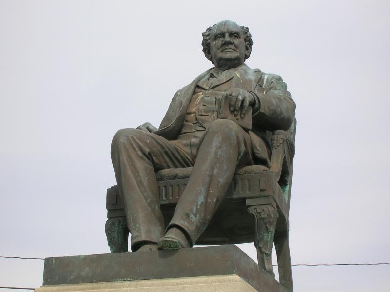 P. T. Barnum monument (1887), sculpted by Thomas Ball,  Seaside Park, Bridgeport, CT.