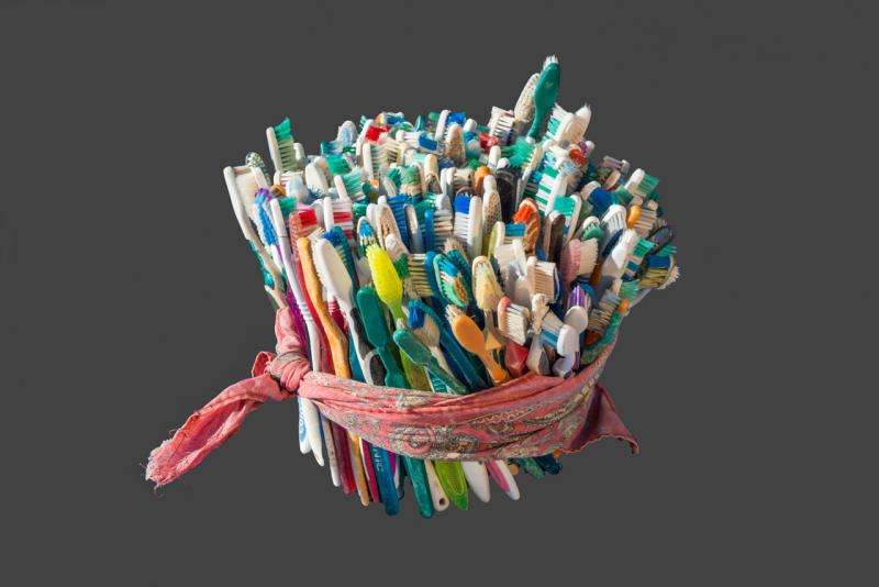 Toothbrushes discarded by migrants in the Arizona desert