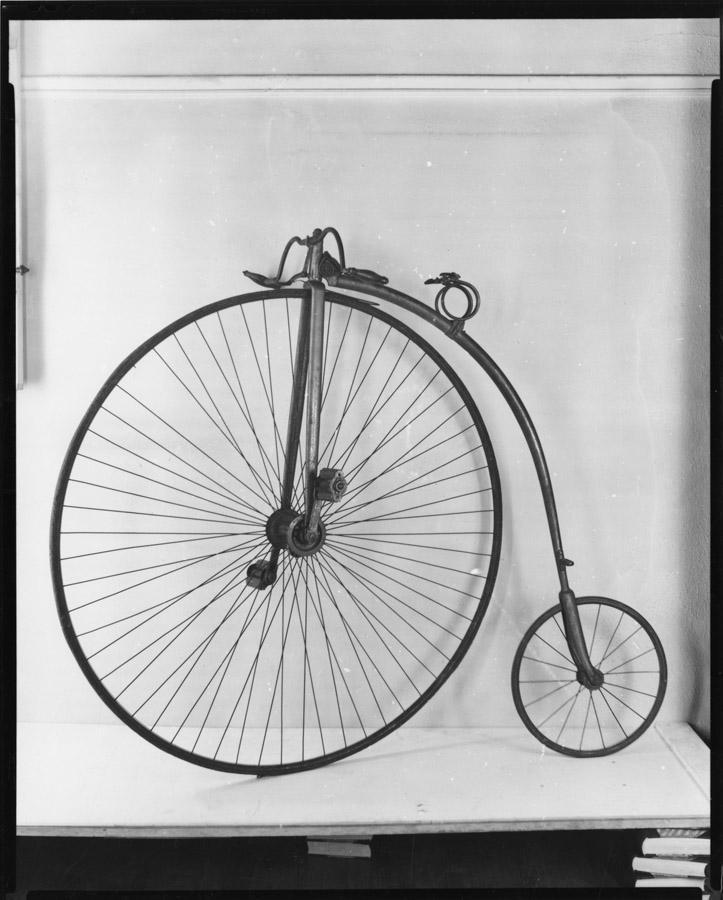 "Mark Twain's high-wheeled ""ordinary"" bicycle."
