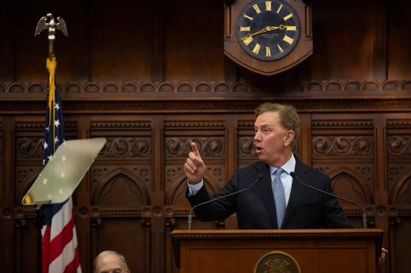 Gov. Ned Lamont gives his first State of the State address.