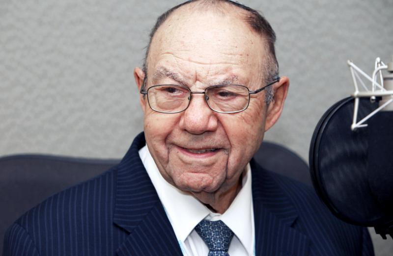 Rabbi Philip Lazowski inside of Connecticut Public Radio studios on January 3, 2019.