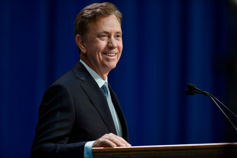 Ned Lamont took office as Connecticut'a 89th governor on Wednesday.