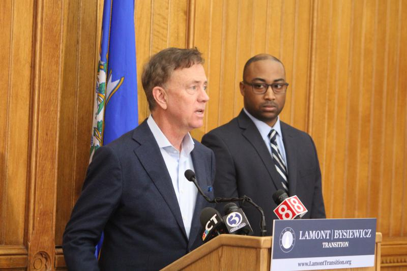 Governor-elect Ned Lamont has hired Paul Mounds Jr., right, to be the state's first-ever chief operating officer.