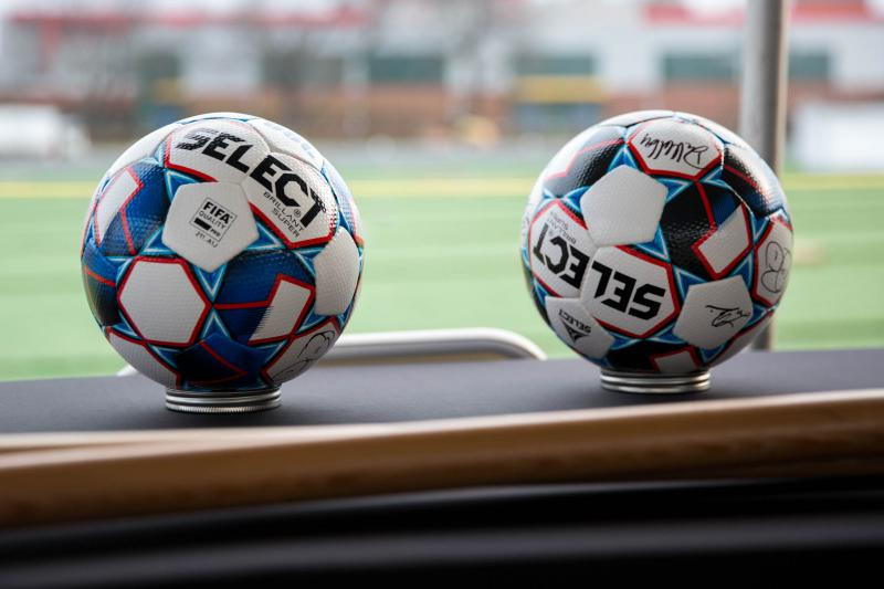 Players being added to the United Soccer League team in advance of team's first regular season game on March 9. The soccer balls pictured are official USL game balls -- ones that could be used in Dillon Stadium -- the team's home.