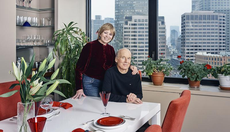After owning a five-bedroom house in Duxbury, MA., for 43 years, Julie Hatfield downsized to a high-rise in downtown Boston with her husband, Tim Leland.
