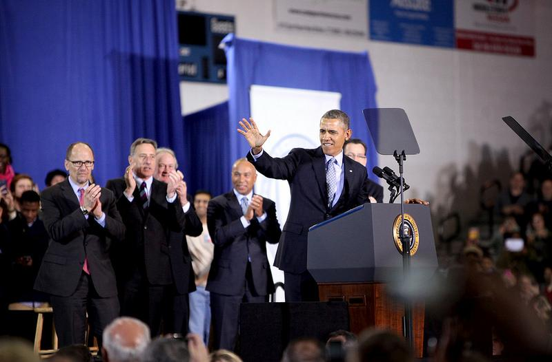 President Barack Obama visited CCSU in New Britain to talk about raising the minimum wage.