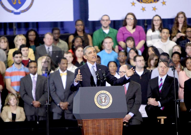 """Obama said, """"Nobody who works full time should ever have to raise a family in poverty."""""""