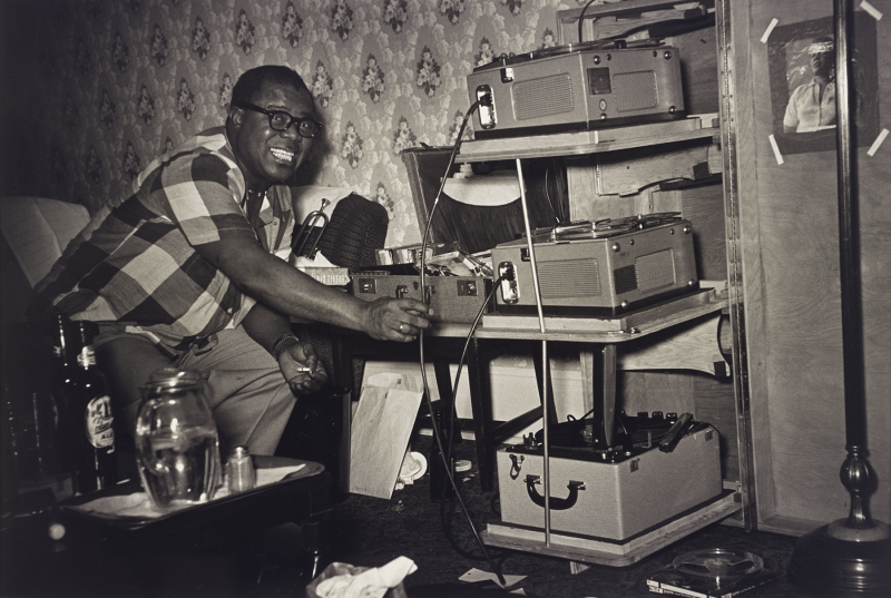 Louis Armstrong, Hotel Room, Seattle, 1954. Gelatin silver print.