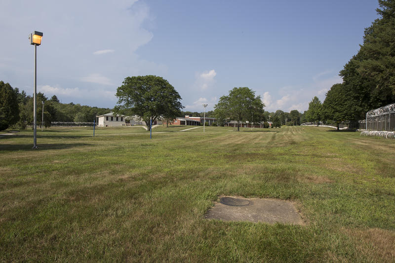The prison yard surrounding the Bergin Correctional Facility.