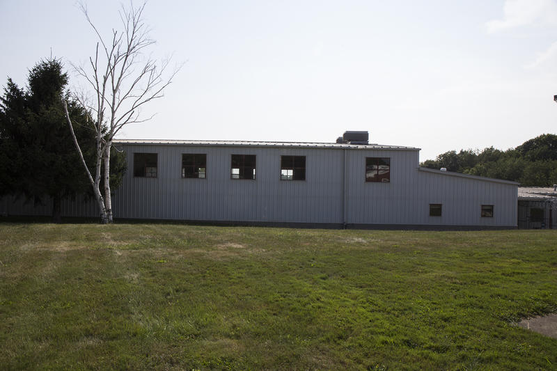 One of the five buildings at the prison.