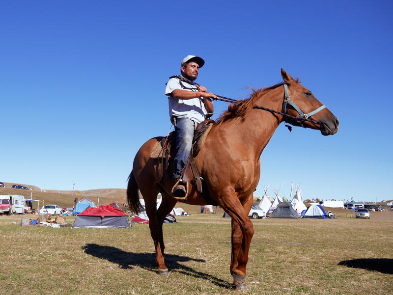 At Oceti Sakowin, sports and horse-riding keep boredom at bay.