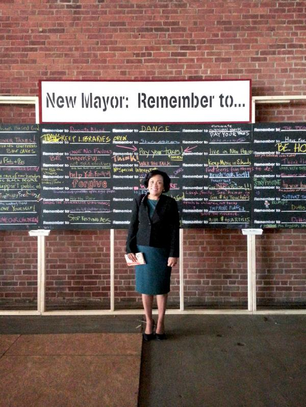 New Haven Mayor-elect Toni Harp. Structure by Eric Epstein.