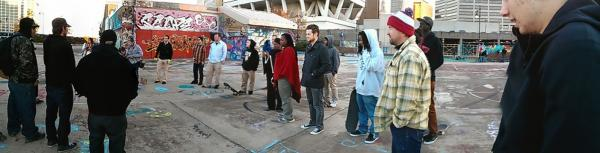 """Skaters hope """"Heaven"""" will be a place not just for skaters, but for graffiti artists and hip hop musicians as well."""