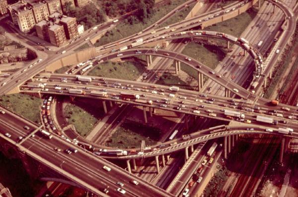 A Cross Bronx Expressway interchange in 1973.